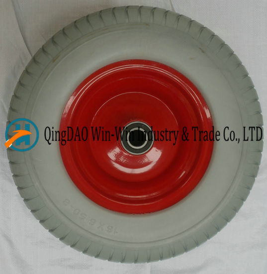 PU Foam Wheel for Garden Tool Cart Wheel (16*6.50-8/650-8)