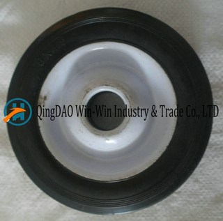 "6"" X 1.5"" Iron Rim Solid Rubber Lawnmower Wheel"