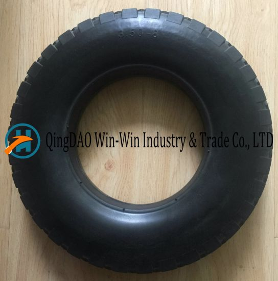 PU Foam Wheel with Plastic / Steel Rim (14*3.50-8)
