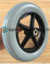 Flat Free PU Foam Wheel for Wheelchair Front Wheel