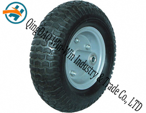 Wear-Resistant Rubber Wheel with Rubber Wheel Part (13*5.00-6)