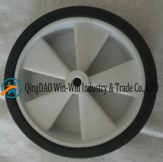 6*1.5 Black Solid Rubber Wheel for Trolleys and Barrows