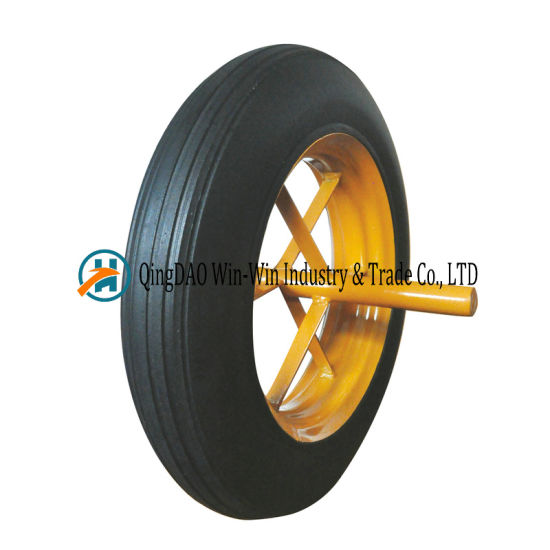 14X4 Rubber Wheels 14 Inch Rubber Powder Wheels for Wheelbarrow Trolley