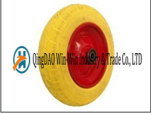 Flat Free PU Tire with Spoke Color (14*3.50-8)